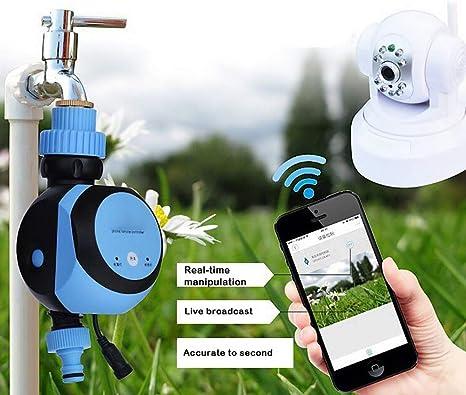 ZDYLM-Y Programador de Riego Automatico, WiFi Móvil Remoto Controlador de riego del jardín, para la Planta de Invernadero Inicio Jardín: Amazon.es: Deportes y aire libre