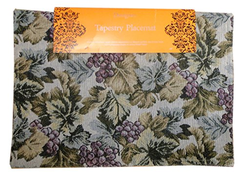 Grape Tapestry (Textiles Plus Tapestry Grape Placemat, Summer, Set of 4)
