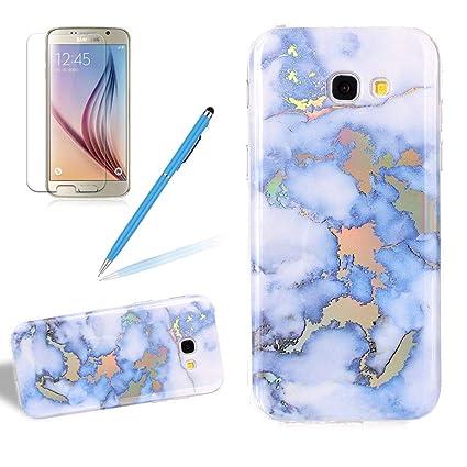 good 6c845 c1107 Amazon.com: Girlyard Marble Phone Case for Galaxy A5 2017 ...