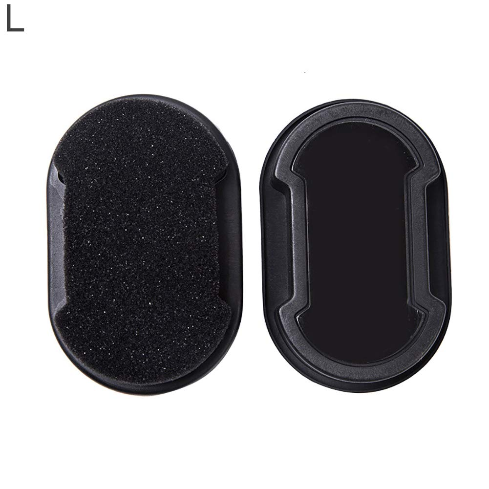WskLinft Shoes Brush, Double-Faced Shoes Polish Brush Colorless Rub Leather Care Sponge Cleaning Tool Black L