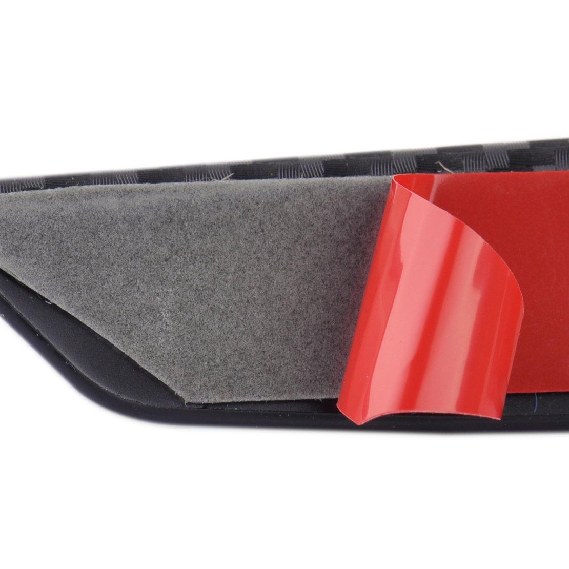 beler 4 pezzi 13,2 centimetri in fibra di carbonio texture auto paraurti anteriore protettore corpo spoiler Pinne Lip Canards Splitter