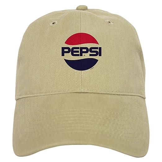 83dc72a4 Amazon.com: CafePress Pepsi Vintage Logo Baseball Cap with Adjustable  Closure, Unique Printed Baseball Hat Khaki: Clothing