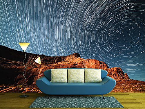 Starry Night Sky above the Mountain in the Wild West