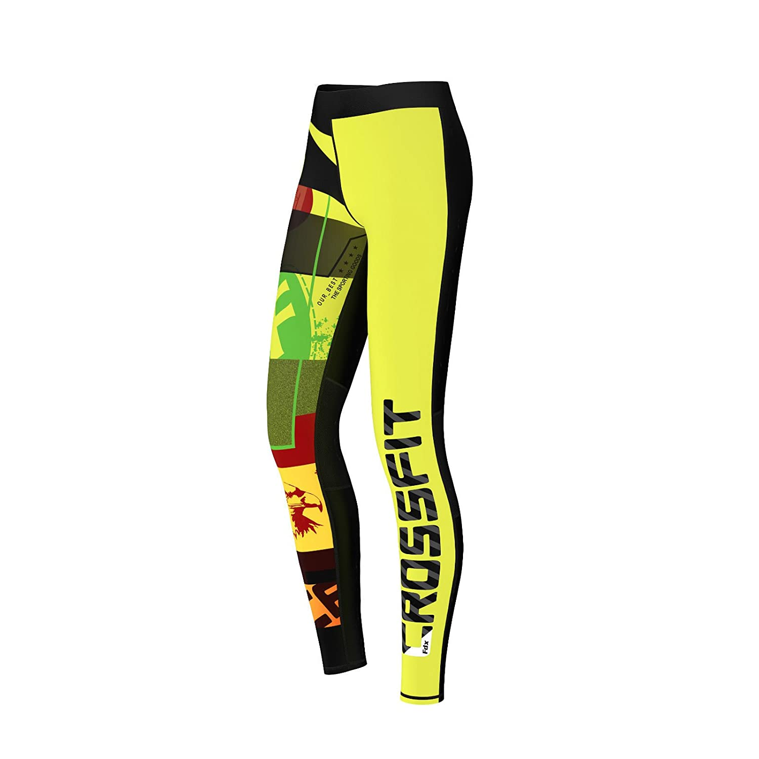 15e78b663ca98 FDX Womens Crossfit Compression Tights Yoga Gym Grit Ladies Training Pants:  Amazon.co.uk: Sports & Outdoors