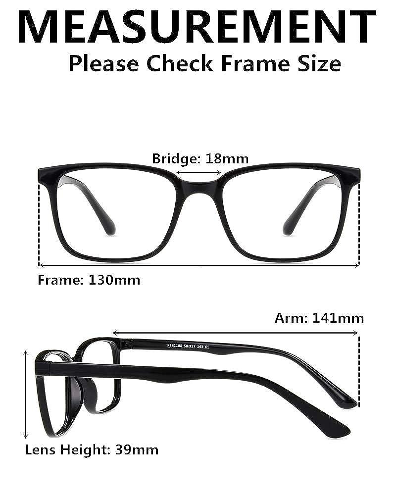 Anti Eyestrain Computer Glasses Firmoo Blue Light Blocking Glasses Square Nerd Reading Glasses for Men//Women