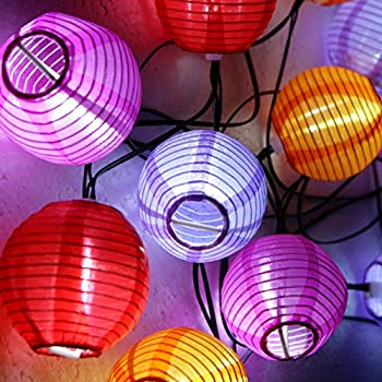 Exceptionnel Grand Patio 14 FT Solar Powered Lantern String Lights, Weather Resistant  Outdoor String Lights, 10 PCS Multi Color Fairy Lights For Patio And Party
