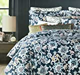 Tahari Home Vibrant Boho Paisley Medalllion Duvet Cover Set 400tc Egyptian Cotton Luxury Moroccan Vintage Tapestry Multicolored Print Limited Edition Bedding, King or Full/Queen Size (Queen, Teal)