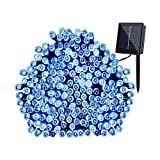 Cheerswill Waterproof 1800mAh 200 LED Solar String Lights Outdoor Christmas Decorative Light Strip with 8 Light Mode(Blue)