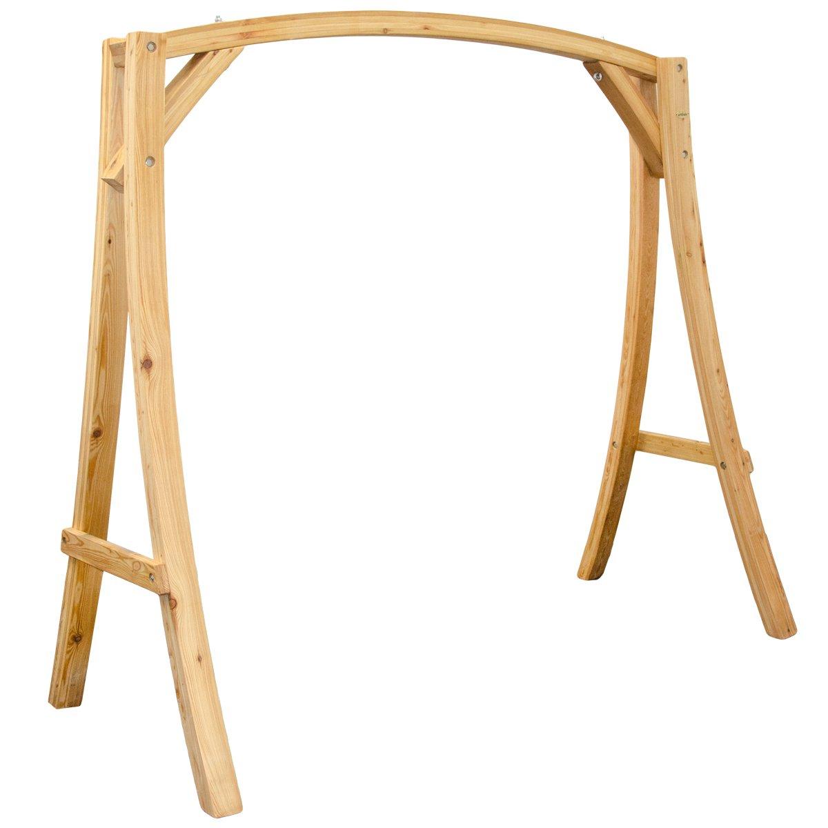 Holzgestell Gestell für Hollywoodschaukel aus Holz Lärche | T/B/H ca. 205x105x198 cm | für Innen und Außen
