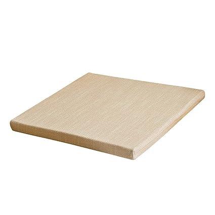Amazon.com: Duzhengzhou Cojín cuadrado de lino cojín cojín ...