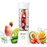 Portable Rechargeable Juice Blender, Household Fruit Mixer, TERSELY Personal Blender 480ml / 16.8OZ USB Juicer Cup for…