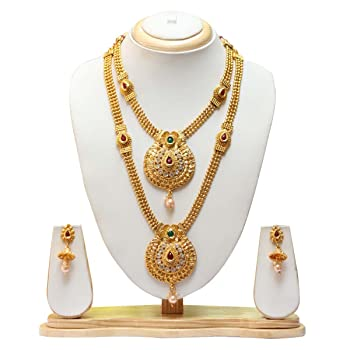 Swarajshop Necklace With Earrings Jewellery Set