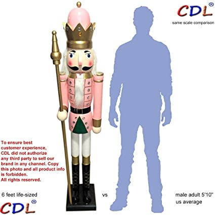Cdl 180cm 6ft Tall Life Size Largegiant Pink Christmas Wooden