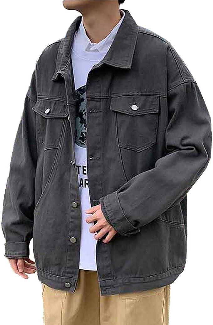 [もうほうきょう] メンズ デニムジャケット カジュアル ジャケット 無地 人気 春 秋 3色 S-2XL