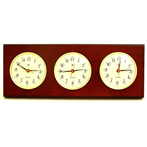 Multizone Clock with 3 Plates Color: Mahogany