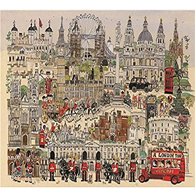 Puzzle 1000 Piece Jigsaw Puzzle for Kids Adult –Freehand London Puzzle: Toys & Games