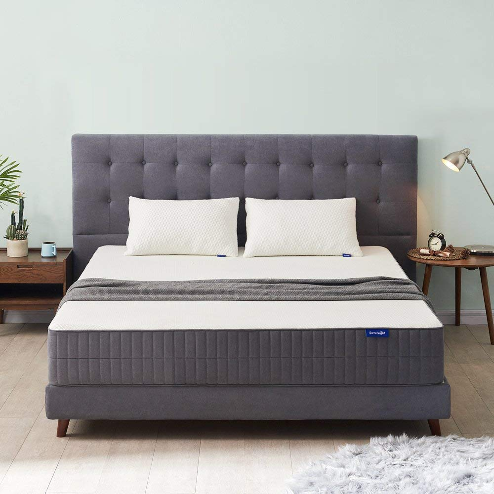 Sweetnight Queen Mattress-Queen Size Mattress,10 Inch Gel Memory Foam mattress with CertiPUR-US Certified for Back Pain Relief /Motion Isolation&Cool Sleep, Flippable Comfort from Soft to Medium Firm