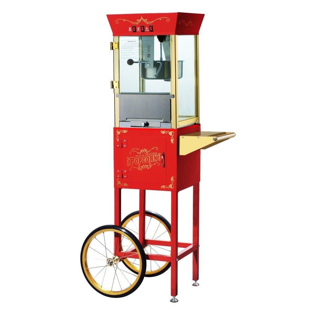 Great Northern Popcorn Matinee 8 Oz. Movie Antique Popcorn Machine & Cart, Popcorn Makers