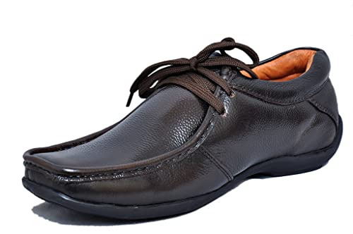 021d25978 Zoom Shoes for Men Genuine Leather Dress Formal Shoes Online D-2571-Brown  Buy  Online at Low Prices in India - Amazon.in