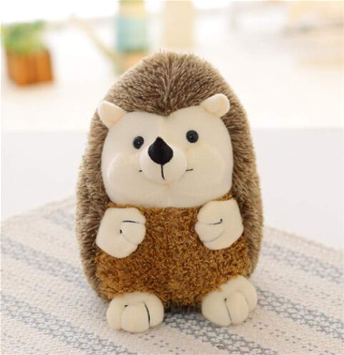 Tmrow 1PC Cute Throw Pillow Stuffed Plush Animal Toys for Kids Doll Gift Hedgehog Shape Back Cushion Home Decoration 30cm