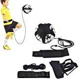 Self Training Football Trainer Aid, Practice Assistance Elastic Band, Safety Belt, Efficient Football Strap, Ideal For Soccer Tarining, Great Quality Material & Modern Design, Football Basics For Kids, Adults, Football Lovers, Universal Fits 3/4/5 Size Footballs