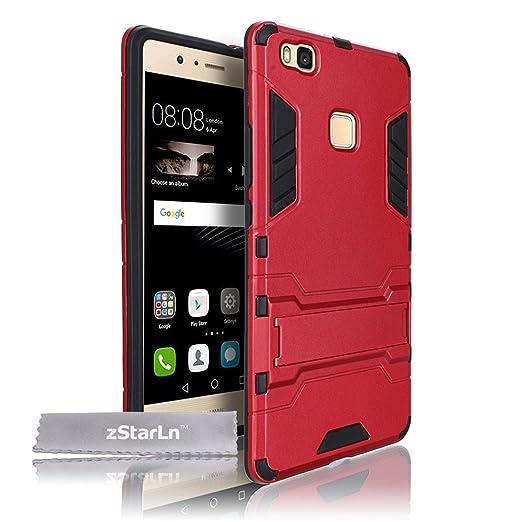 8 opinioni per zStarLn® rosso Cover Huawei P8 Lite Custodia Dual Layer Hybrid Rugged Case Soft