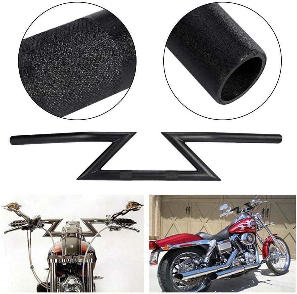 Black Compatible with Honda Yamaha Harley Chopper Bobber Old School Narrow Z Handlebar 6in XKMT- 1in P//N: TGHD-HB008-III
