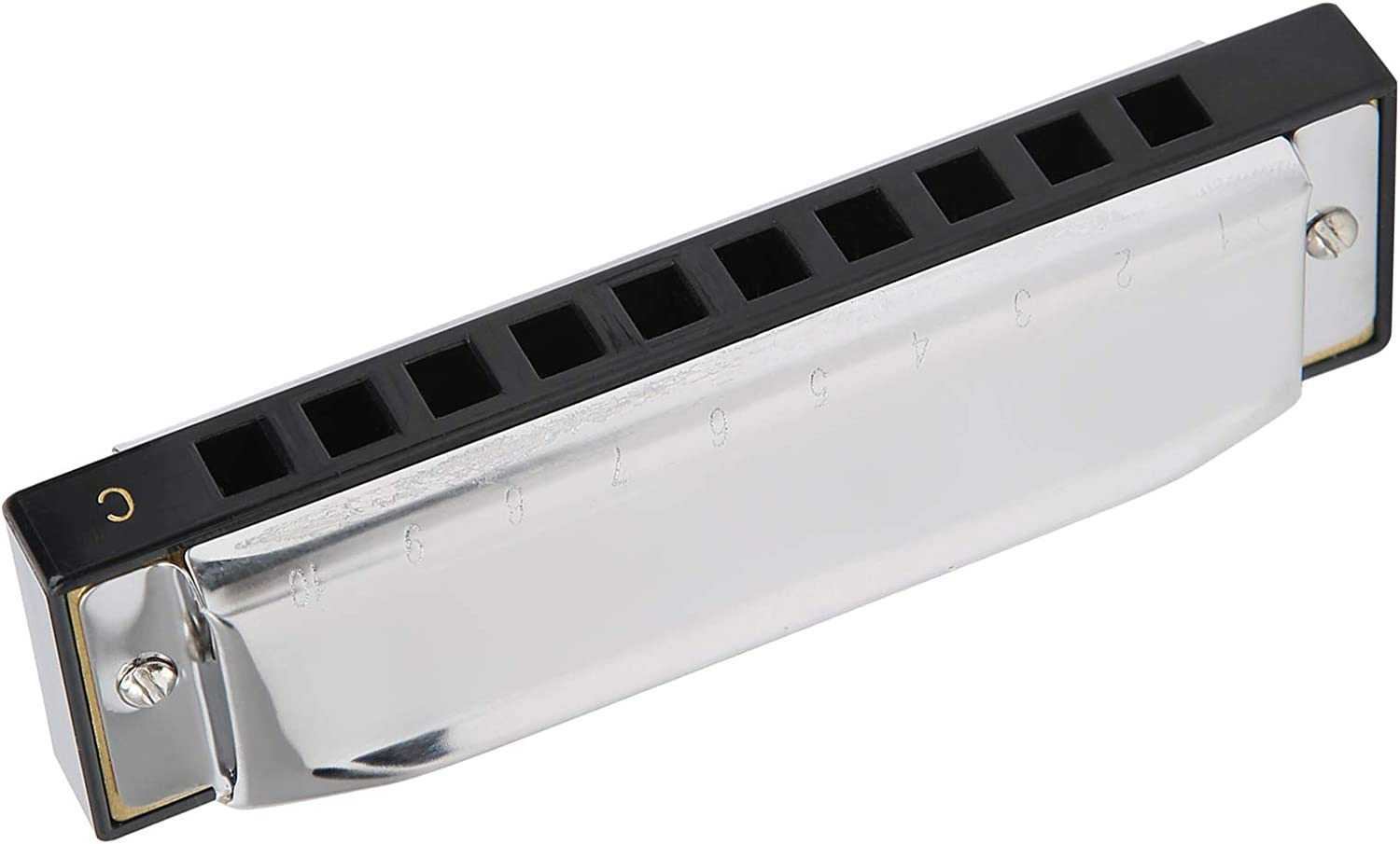 10‑Hole 20‑Tone Harmonica, C Key Harmonica Blowing Musical Instrument Suitable for Beginners or Professional Performances of Adults, Children, Students