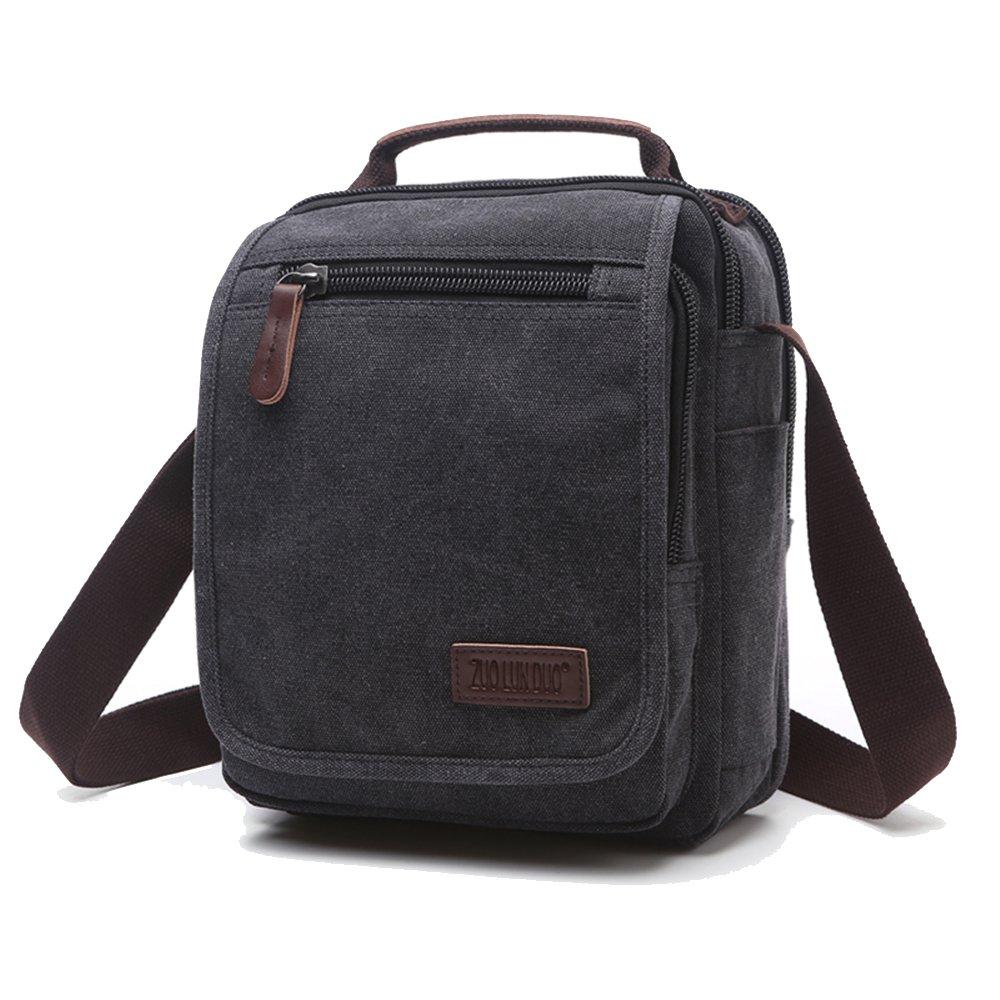 ENKNIGHT Nylon Crossbody Purse Bag for Women Travel Shoulder handbags (Black-new1)