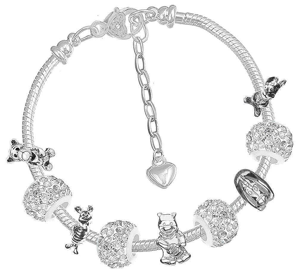 Stylisme Winnie lOurs Sparkly cristal Bracelet Art D/écor cadeau Coffret cadeau pour lanniversaire