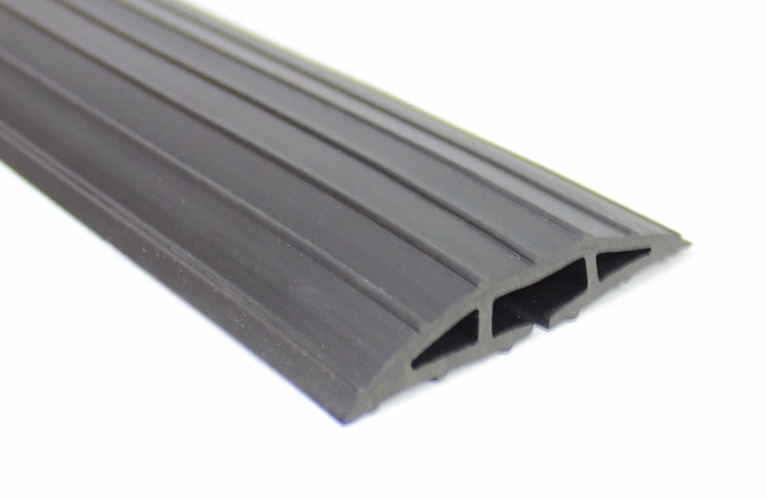 Black Rubber Floor Cable Wire Cover Tidy Protector Safety Trunking Ramp standard