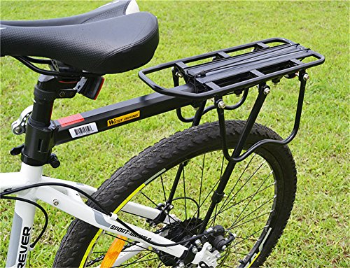 West Biking 110Lb Capacity Almost Universal Adjustable Bike Cargo Rack Cycling Equipment Stand Footstock Bicycle Luggage Carrier Racks with Reflective Logo by West Biking (Image #4)