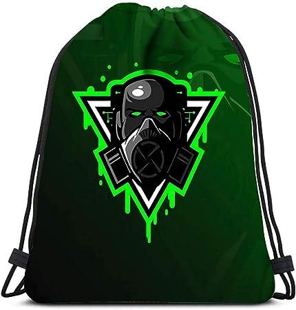 AllenPrint Mochila con Cordón,Toxic Mascot Logo Modern ...