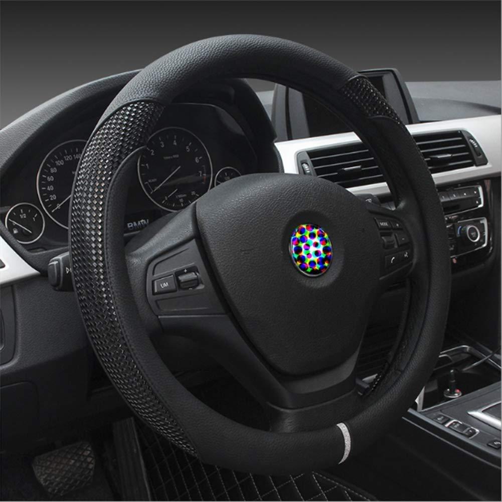 Lqqfxp Cubierta del Volante Cubierta del Volante del automóvil de Cuero de PU Universal 37-38CM / 15 & quot; Antideslizante Protector Transpirable Heavy Duty Accesorio Adecuado (Color : C)