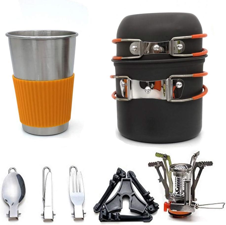 Yeying123 Kit de Cocina de Camping con Estufa al Aire Libre 8 ...