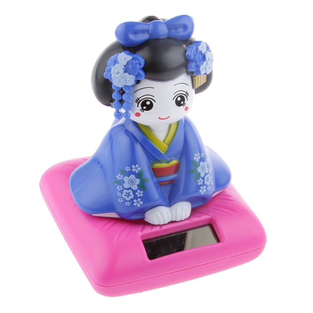 FLAMEER Puissance Bobblehead Solaire De Jouet Nohohon Japonais Kimono Maiko Geishas #b