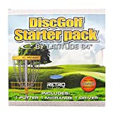 Latitude 64 Senior Retro Line Disc Golf Starter Set [Disc weights and colors may vary]