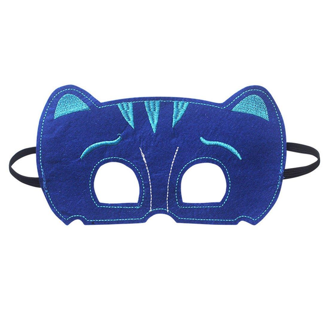 YL PJ Máscaras Disfraces para Niños Juego de 3 catboy owlette Máscara con Cabo (27,5 cm): Amazon.es: Ropa y accesorios