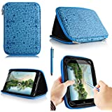 Casezilla Proscan 7 Tablet Universal EVA Hard Shell Folio Case - Cute Blue