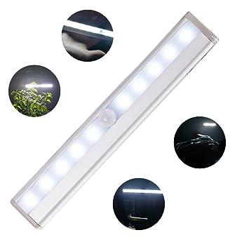 Nocturna LED con Sensor de Movimiento, 10 LEDs Lámpara de Pared Automática Lámpara de LED