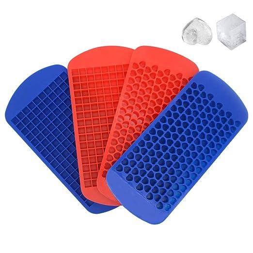RETON 4 unidades de mini bandejas para cubitos de hielo, moldes de ...