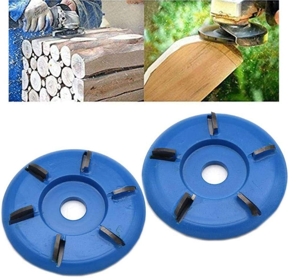 90mm Diameter 22mm Bore Rotary Planer Curved Blade Power Wood Carving Disc Arc Milling Mill Carpentry Flat Turbo Disc,6,Teeth 6-teeth