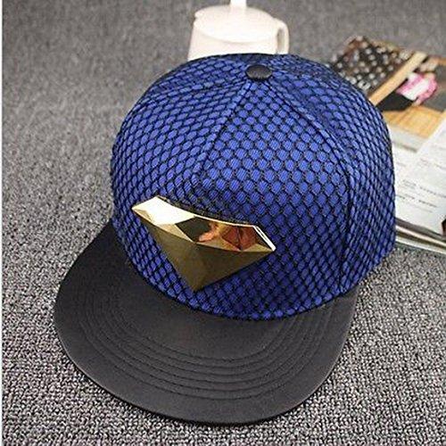 Blazers Proforms Costumes Fashion trend Men's Snapback adjustable Unisex Baseball Cap Hip Hop hat - Gold Diamond Light Blue Cap