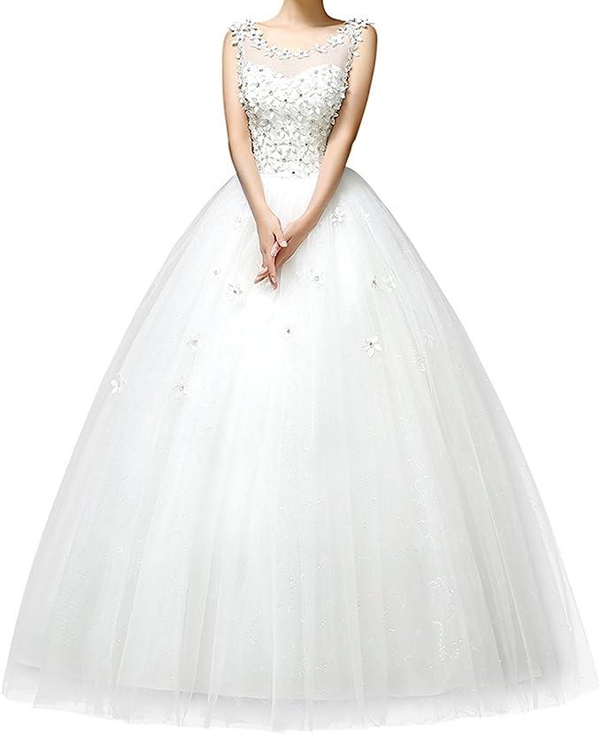 Viktion 2015 Nouveau Robe mariée Robe de Mariage Femme Blanc élégante Dentelle à Dos Nu avec des Fleurs