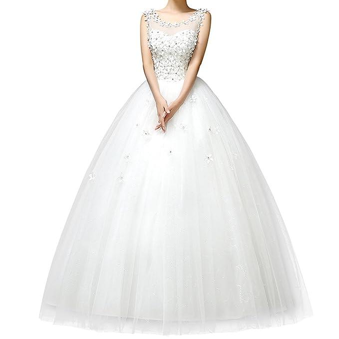 femme élégante mariée Robe blanc nouveau Robe mariage de 2015 vnYw6gAqFv