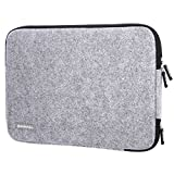 Guaiboshi 13-13.3 Inch Laptop Sleeve Case Bag for Macbook Air Pro Xps Dell HP Stream with Inner Accessories Pocket+ Non-Take Out Charge Open, Woollen Gray