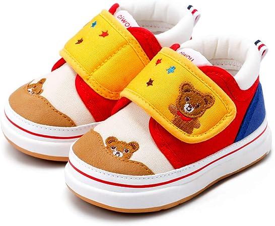 YSZDM Zapatillas para niños, Zapatos de algodón con Velcro para ...