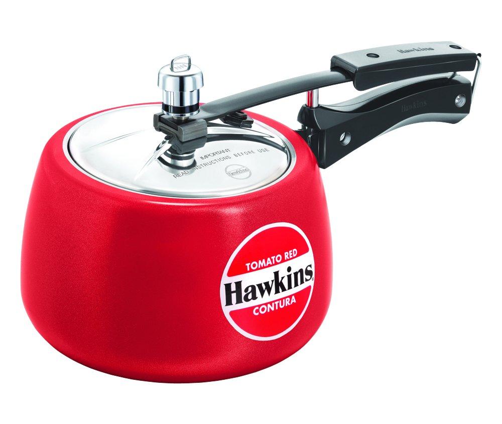 Hawkins CTR30 Contura Ceramic Coated Pressure Cooker, 3l, Red Hawkins Ceramic