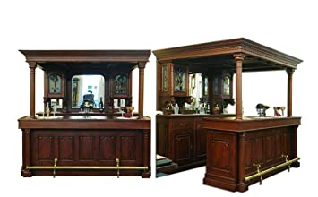 Theke Bar Aus Massivholz Im Reproantiken Stil Amazon De Kuche