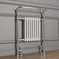 963 X 673 X 230 Mm Traditional 8 Column White Heated Towel Rail Designer Bathroom Radiator by Sunny Showers